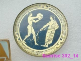 Ancient Greece Is Olimpic Games. Shot Putter Badge Old 302_o4835 - Olympic Games