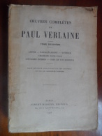 Oeuvres Complètes De Paul Verlaine Tome 2   éditions Albert Messin  De 1926 - Livres, BD, Revues