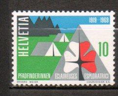 SUISSE  Cinquantenaire Des Eclaireures 1969 N°828 - Suisse