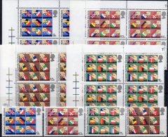 EUROPA-Parlament 1979 Großbritannien 789/2+4Block ** 12€ EU Flagge CH GB RF I L B A D N Bloque M/s Bloc Flag Sheet Bf UK - 1952-.... (Elisabeth II.)