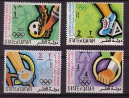 OLYMPICS 1972 MUNICH OLYMPICS UNMOUNTED MINT QATAR MNH UAE FOOTBALL CYCLING GYM - Qatar