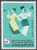 Singapore. 1963 South East Asia Cultural Festival. 5c MH. SG 82 - Singapore (1959-...)