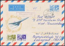 USSR 1974, Uprated Prestamped Cover Leningrad To Veenhusen - Cartas