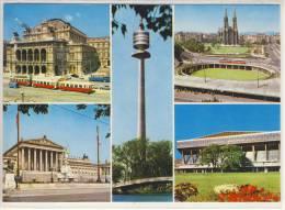 WIEN - Mehrbildkarte Mit Straßenbahn, Oper, Parlament, Donauturm, Stadthalle, Rooseveltplatz - Wien
