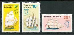 1970 Tokelau Navi Velieri Sailing Ships Bateaux à Voile Set MNH** B37 - Tokelau
