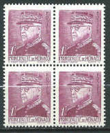 Monaco - 1941 - Prince Louis II  -  Bloc X4 - N° 227 - Neufs **   -  MNH - Nuovi