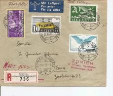 Suisse ( Lettre Recommandée Par Avion  De Zurich Vers Berne De 1938 à Voir) - Suisse