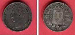 CHARLES IX 5 FR 1829 W LILLE TTB+  195 - France