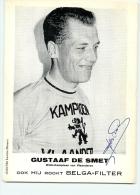 Gustaaf DE SMET - Autographe Manuscrit - Plusieurs Fois Champion De Flandres - Wielerkampioen Van Vlaanderen - 2 Scans - Cyclisme