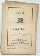 Plan D Anvers  En Couleurs  Avec Liste Des Curiosités  70 X 50 Cm Env Echelle & Dates ?? - Europe