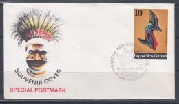 Papua New Guinea 1974 Papuan Agricultural Show Souvenir Cover - Papouasie-Nouvelle-Guinée