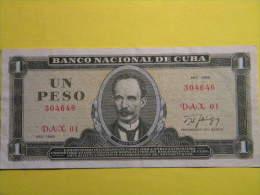 CUBA - UN PESO 1986.