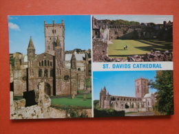 30163 PC: WALES: PEMBROKESHIRE: St. Davids Cathathedral. Bishops Palace St. Davids Cathedral. - Pembrokeshire