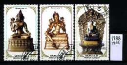 -MONGOLIA - Year 1988 - Timbrati - Stamped -affranchiè -gestempelt. - Buddhism