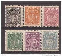 ESTGF68-LA772TESO.Spain. Espagne.TELEGRAFOS ESPAÑOL.ESCUDO DE ESPAÑA.1932/3. (Ed 68/73**)  Sin Charnela.MAGNIFICO - Otros