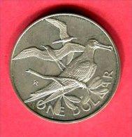 ILE VIERGES OISEAUX 1 DOLLAR 1982 TTB/SUP 40 - British Virgin Islands
