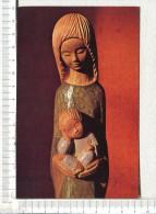 VIERGE à L ENFANT  -  Statue En Bois Scultpté - Vergine Maria E Madonne