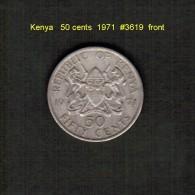 KENYA    50  CENTS  1971  (KM # 13) - Kenya