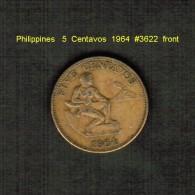 PHILIPPINES    5  CENTAVOS  1964  (KM # 187) - Philippines