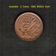 AUSTRALIA    2  CENTS  1980  (KM # 63) - Decimal Coinage (1966-...)