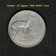 ZAMBIA    20  NGWEE  1968  (KM # 13) - Sambia