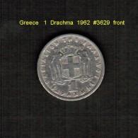 GREECE    1  DRACHMA  1962  (KM # 81) - Griechenland