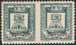 ** 1945 - EMISSIONI LOCALI CASTIGLIONE D´INTELVI MNH COPPI N.D. IN MEZZO´ ( SASS. N.18a) CERT. RAYBAUDI CAT. € 600, - Emissioni Locali/autonome