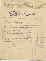 Senones La Petite Raon Travaux Public JEANDEL 1902 - Petits Métiers