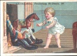 CHROMO Chaussures LACHANEL -  1er JOUR De BONHEUR - Enfant, Jouets Cheminée - Unclassified