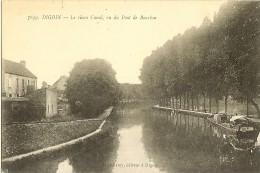 DIGOIN (71) LE VIEUX CANAL VU DU PONT DE BOURBON - Digoin