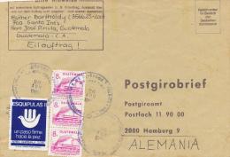 SAN JOSE PINOLA / Guatemala - 1989 , Postgirobrief An Das Postgiroamt Hamburg - Guatemala