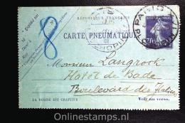 France:  Carte  Pneumatique, Michel RK 61