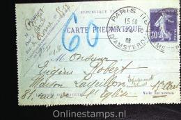 France: Carte Pneumatique , RK  61 1908