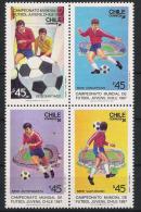 1987 Chile Mi# 1179-82 ** MNH Fußball Football Soccer Sport WM Der Junioren - Fußball-Weltmeisterschaft