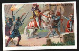 CHROMO FELIX POTIN - MORT D'ETIENNE MAROEL 1358 - Félix Potin