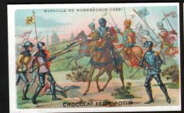 CHROMO FELIX POTIN - BATAILLE DE ROSEBECOUE 1382 - Félix Potin