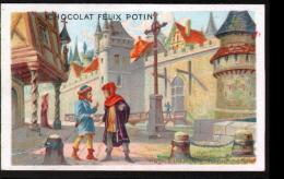 CHROMO FELIX POTIN - UNE VILLE AU MOYEN-AGE - Félix Potin