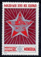 MONGOLIA 1976 17th People's Revolutionary Party Congress MNH / **.   SG  970 - Mongolia
