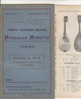 C1285 - Listino Illustrato STRUMENTI MUSICALI A PLETTRO: MANDOLINI Stab.Musicale-Torino 1929 - Strumenti