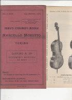 C1286 - Listino Illustrato STRUMENTI MUSICALI AD ARCO : VIOLINI - VIOLE - CONTRABBASSI Stab.Musicale - Torino 1929 - Strumenti