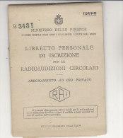 C1287 - Libretto RADIOAUDIZIONI CIRCOLARI RAI RADIO TELEVISIONE ITALIANA 1946-1950 - Television
