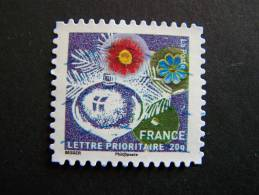 OBLITERE FRANCE ANNEE 2010 N° 495 SERIE MEILLEURS VOEUX AUTOCOLLANT ADHESIF - France