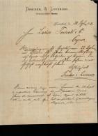 Entête 30/09/1887  -  FRIEDRICHSLADT ( Allemagne ) -  DENCKER  &  LORENZEN  à Mr  FOUCAULD à  Cognac - Deutschland