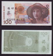 (Replica)BOC (bank Of China) Training/test Banknote,Norway Norge A Series 100 Kroner Deep Colour Note Specimen Overprint - Norway