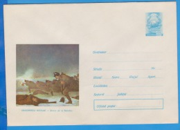 N. GRIGORESCU- SMIRDAN BATTLE PAINTING,  Romania Postal Stationery 1973 - Impressionismo