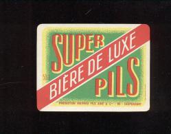 Etiquette De Bière   -  Super Pils 50 Cl  -  Mathieu Fils Ainé Et Cie  à  Gespunsart  (08) - Bière