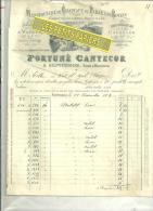 47 - Lot-et-garonne - SEPTFONDS - Facture CANTECOR - Manufactures De Chapeaux De Paille – 1902 - France