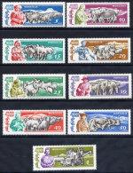 MONGOLIA 1961 40th Anniversary Of Independence III Set Of 9 MNH / **.   SG  233-41 - Mongolia