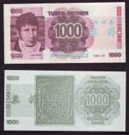 (Replica)BOC (bank Of China) Training/test Banknote,Norway Norge B Series 1000 Kroner Note Specimen Overprint - Norway