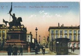 Bruxelles  11   Place Royale Monument Godefroid De Bouillon Tram - Non Classés